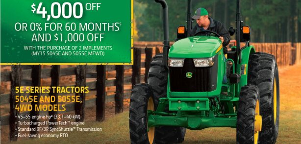 """Deere Season"" 5E Utility Tractor Special!  click HERE"