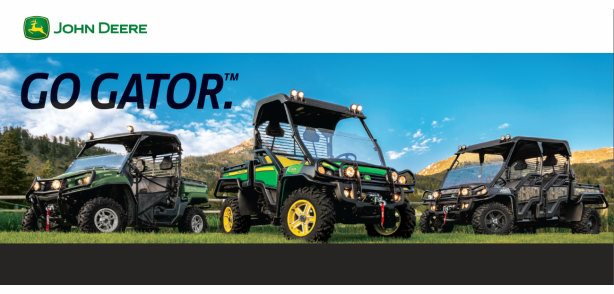 """Deere Season"" Gator Special!  click HERE"