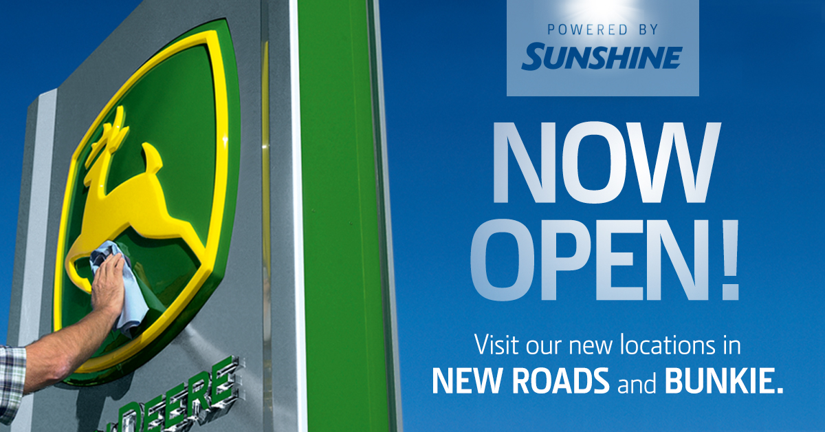 Sunshine Adds Two New John Deere Locations in New Roads and Bunkie with Acquisition of H&W Equipment